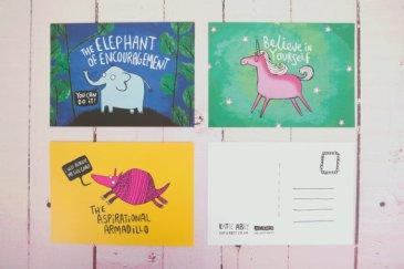 Motivational Illustrated Postcard Pack